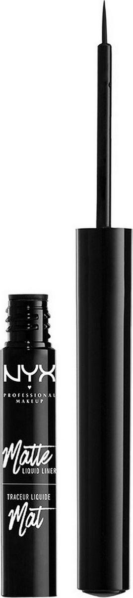 NYX Professional Makeup Matte Liquid Liner Жидкий матовый лайнер Matte Liquid Liner, оттенок 01, Black, #1