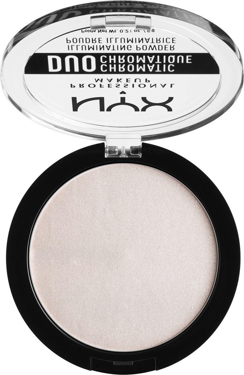 NYX Professional Makeup Duo Chromatic Illuminating Powder Хайлайтер, оттенок 04, Snow rose, 6 г  #1