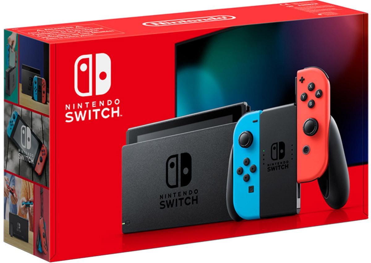 Игровая консоль Nintendo Switch, красный, синий #1