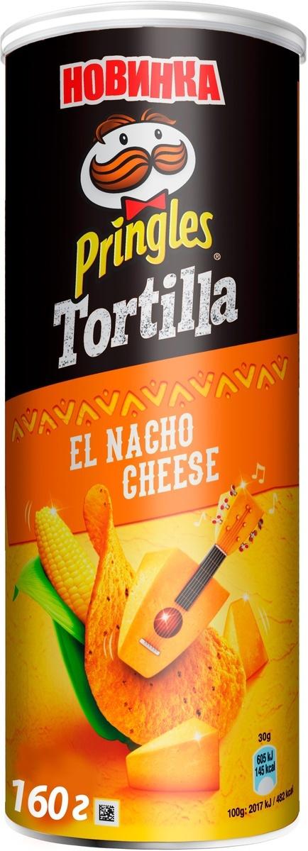 Pringles Tortilla Кукурузные чипсы со вкусом сыра начо, 160 г #1