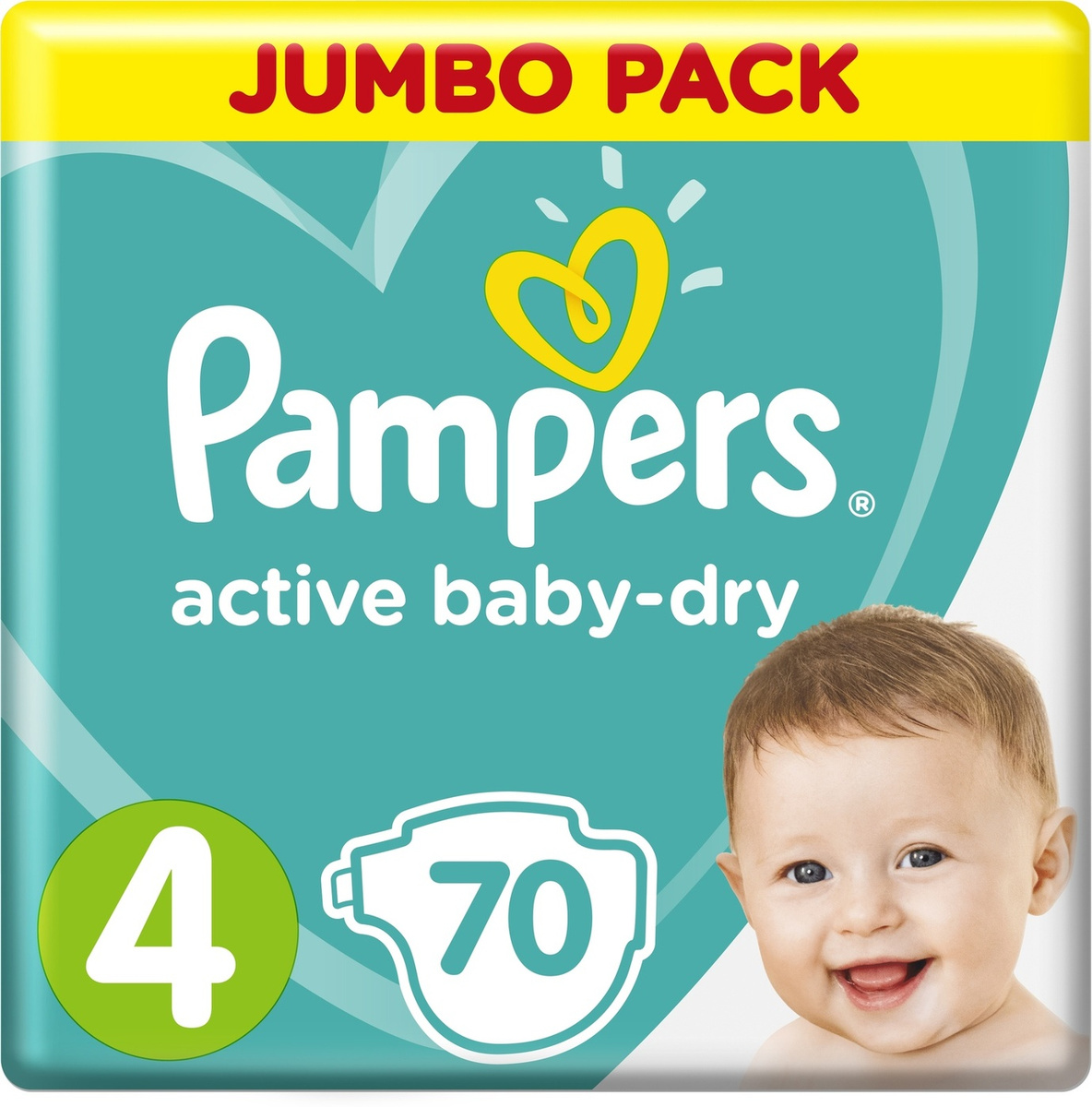 Pampers Подгузники Active Baby-Dry 9-14 кг (размер 4) 70 шт #1