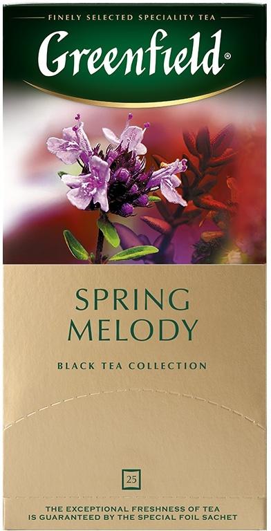Черный чай в пакетиках Greenfield Spring Melody, 25 шт #1