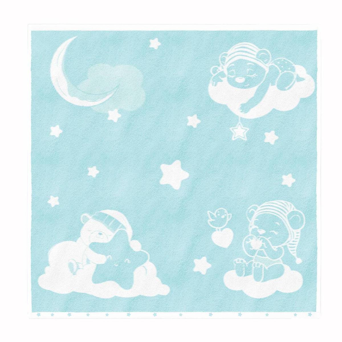 Полотенце детское Облачко Мишки на облаках Хлопок, 100x100 см  #1