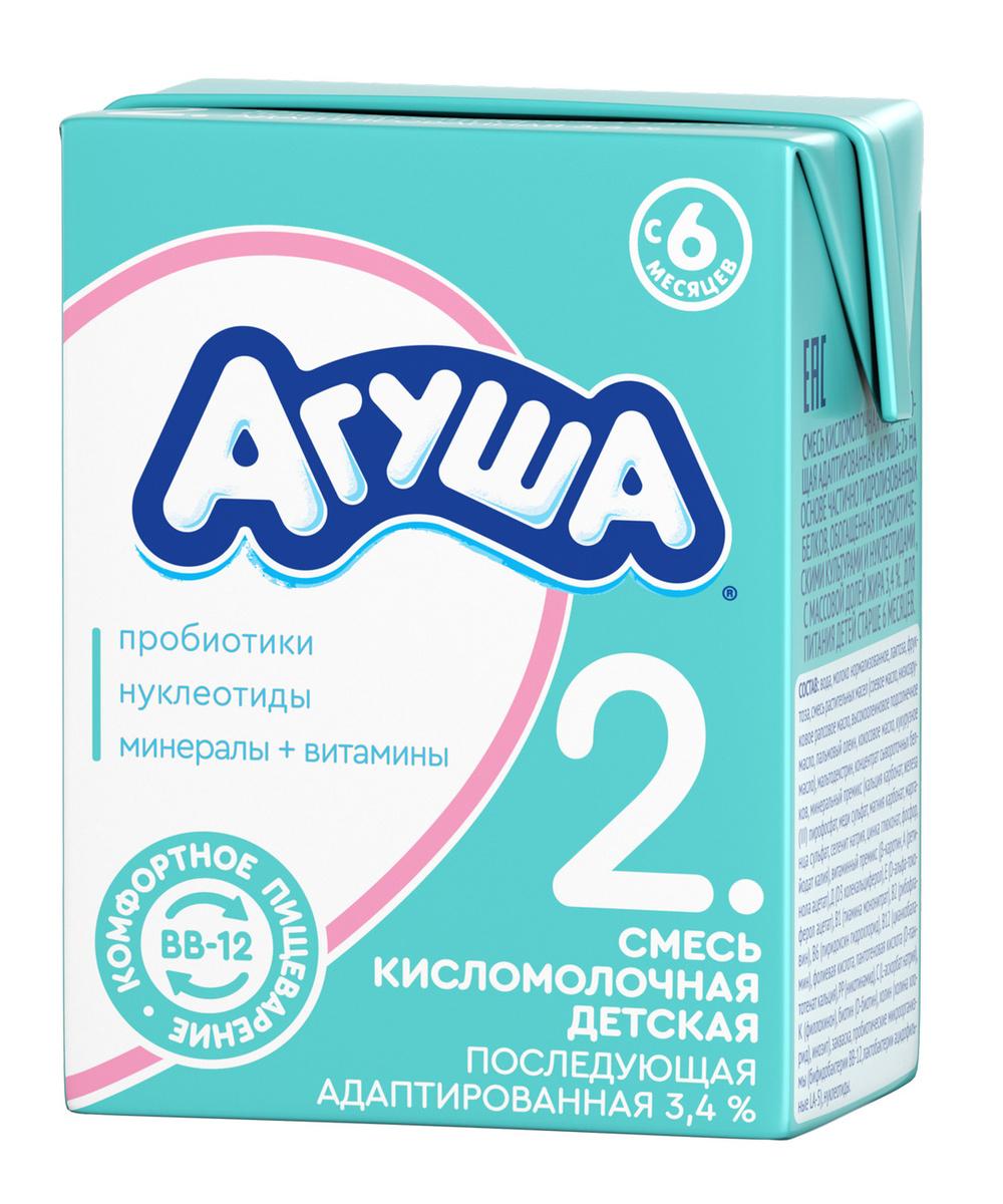 Смесь кисломолочная 3,4% с 6 месяцев Агуша-2, 204 г #1
