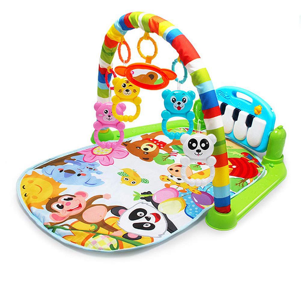 """Музыкальный коврик CBTX """"Зоопарк"""" с игрушками для развития зрения и моторики  #1"""