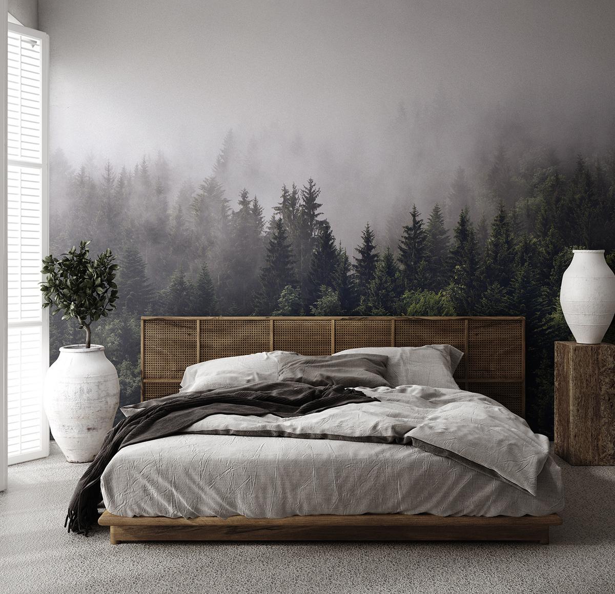 """Флизелиновые фотообои на стену DIVINO Decor DIVINO Decor """"Туманный лес 400х270""""(ШхВ) - купить по выгодной цене в интернет-магазине OZON"""