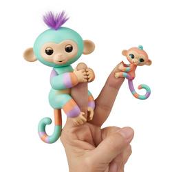 Интерактивная игрушка Fingerlings Обезьянка Денни с малышом, 12 см, 40 действий и звуков!. Ручные питомцы