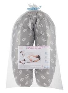 Подушка для кормящих и беременных ROXY-KIDS короны , 35x170 . Вместе дешевле!