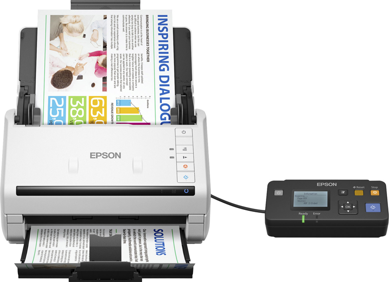 Сканер Epson Work Force DS-530N, B11B226401BT, серый
