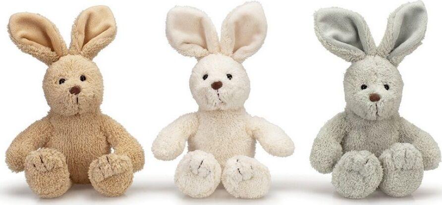 Мягкая игрушка Teddykompaniet Кролик Эбби, кремовый, 23 см