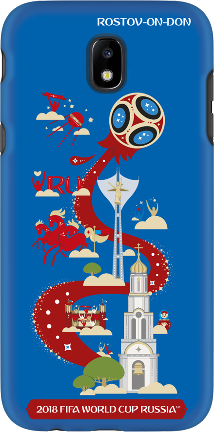 Фото - Чехол TPU для Samsung Galaxy J5(2017), FIFA Rostov-on-Don, Deppa чехол perfeo для samsung j5 2017 tpu зеленый pf 5311