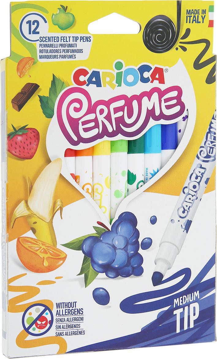 Carioca Набор ароматизированных фломастеров Perfume 12 цветов набор фломастеров школьных selfies 6 цветов картонная коробка