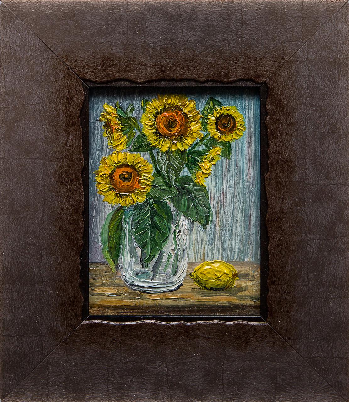 Картина маслом Букет с лимоном Мифтахов картина маслом подсолнухи мифтахов