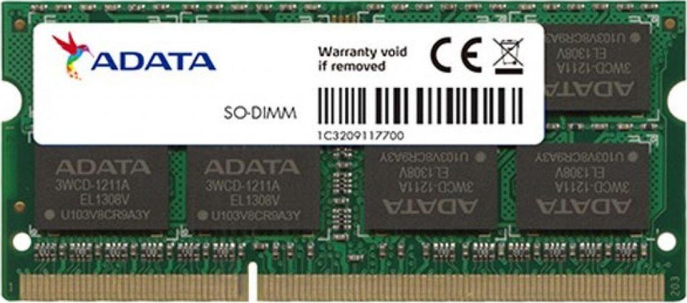 Оперативная память ADATA 8GB DDR3 1600 SO DIMM AD3S1600W8G11-S Non-ECC, CL11, 1.5V, 512x8