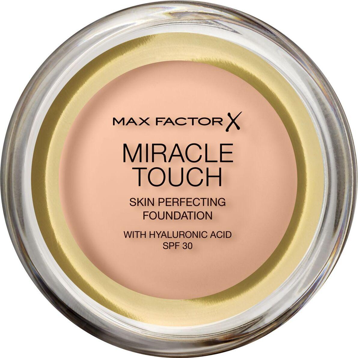 Тональная основа Max Factor Miracle Touch, SPF 30, тон 35 Pearl Beige, 11 мл основа под макияж max factor miracle prep colour correcting cooling тон green 30 мл