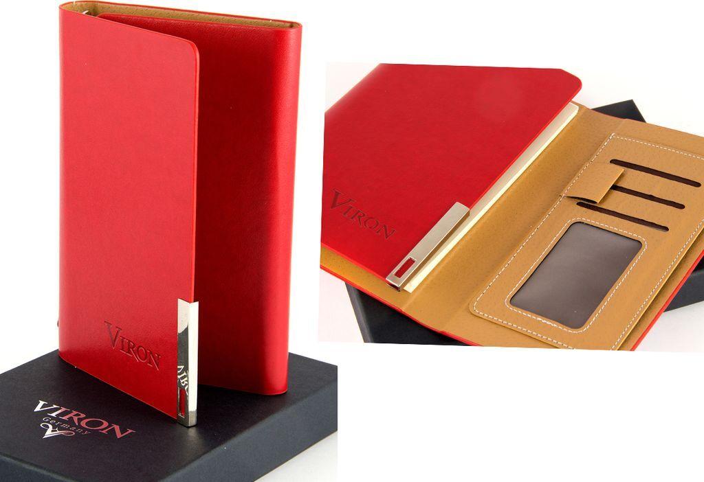 Ежедневник Viron, недатированный, 82728, красный, 80 листов