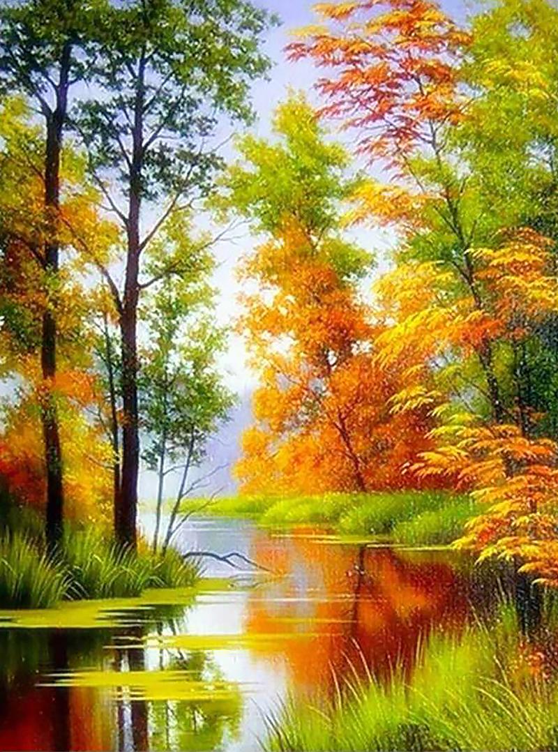 чем пейзажи в картинках про осень является центральной