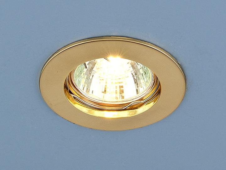Встраиваемый светильник Elektrostandard Точечный 863 MR16 GD, G5.3 светильник встраиваемый escada milano gu5 3 001 gd