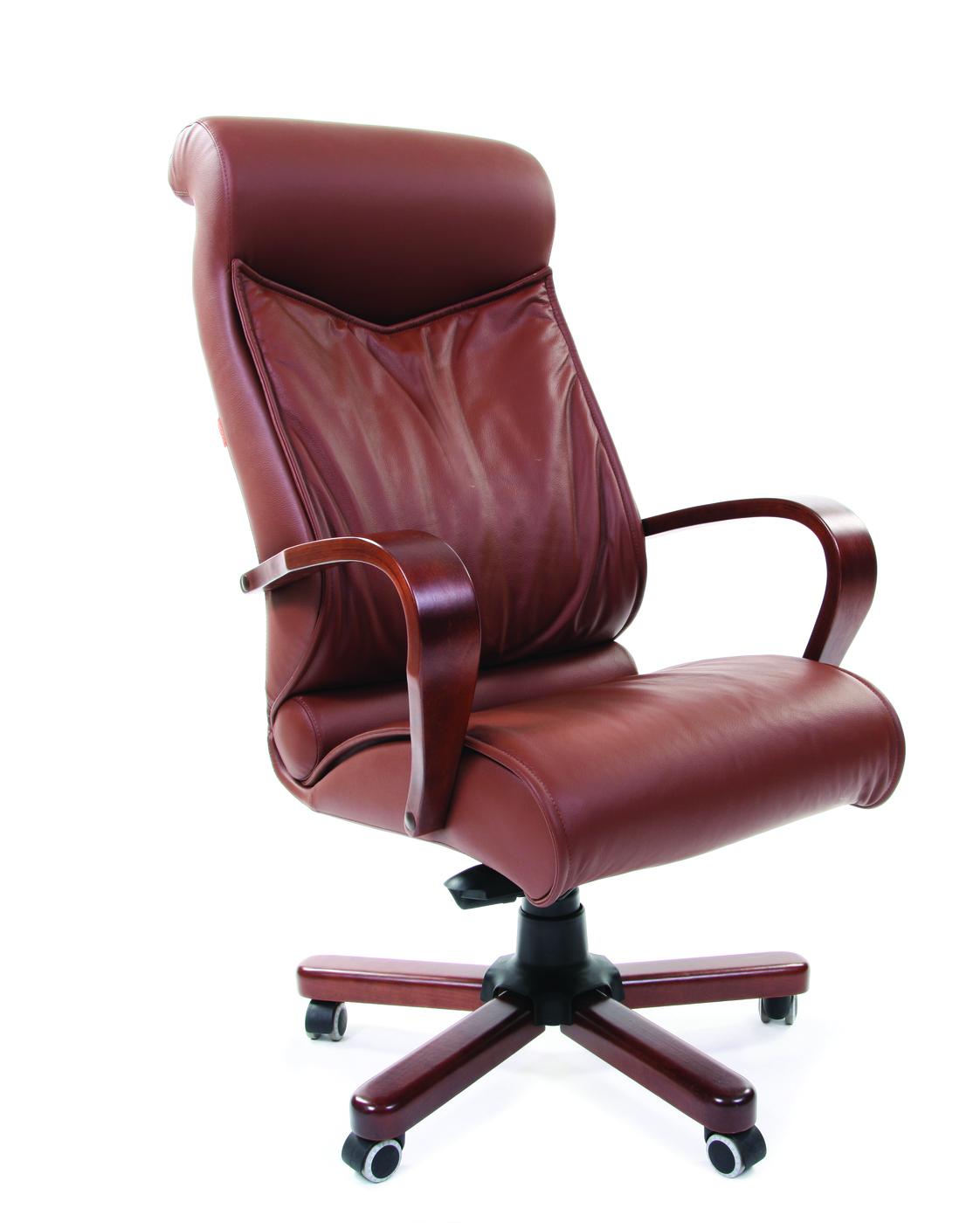 Офисное кресло Chairman    420    Россия     WD кожа коричневая