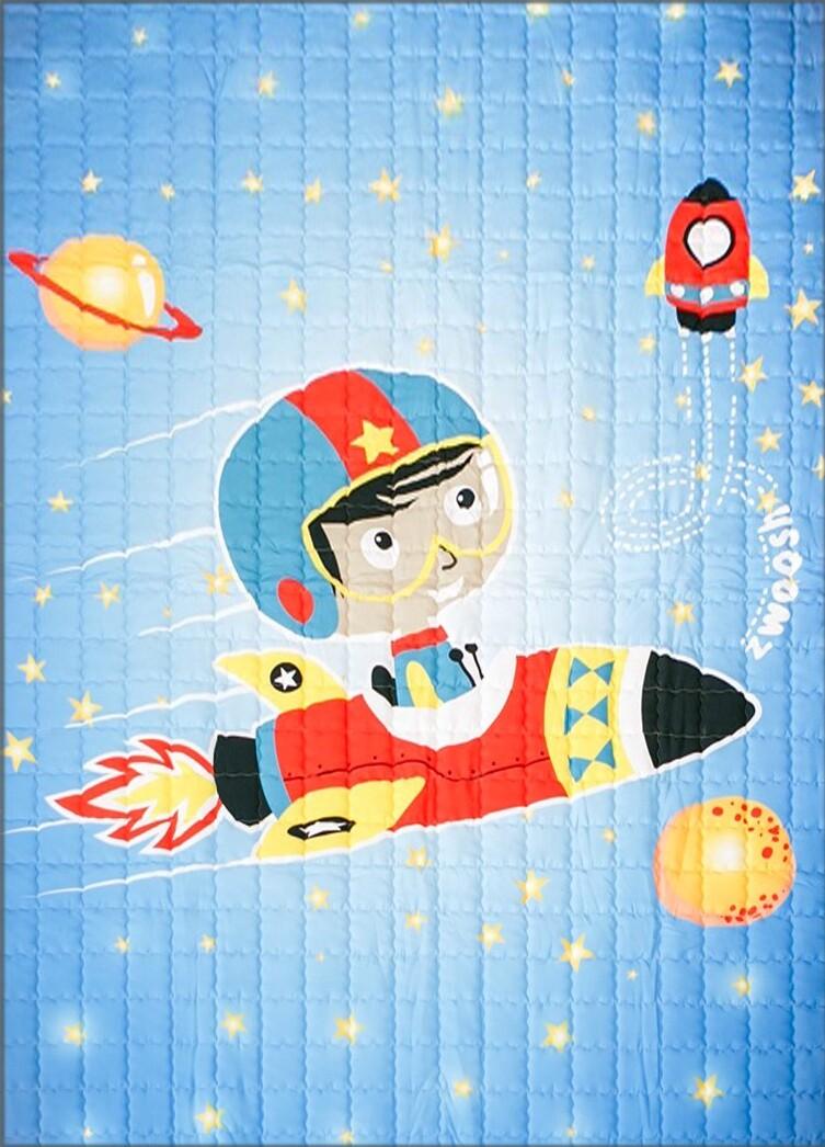 "Детский коврик LeoGo ""Мальчик на ракете"", 195 х 145 см"