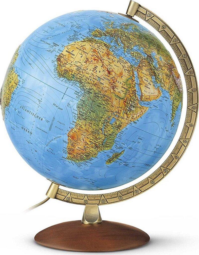 Глобус PRIMUS рельефный, с подсветкой, D-30 см.