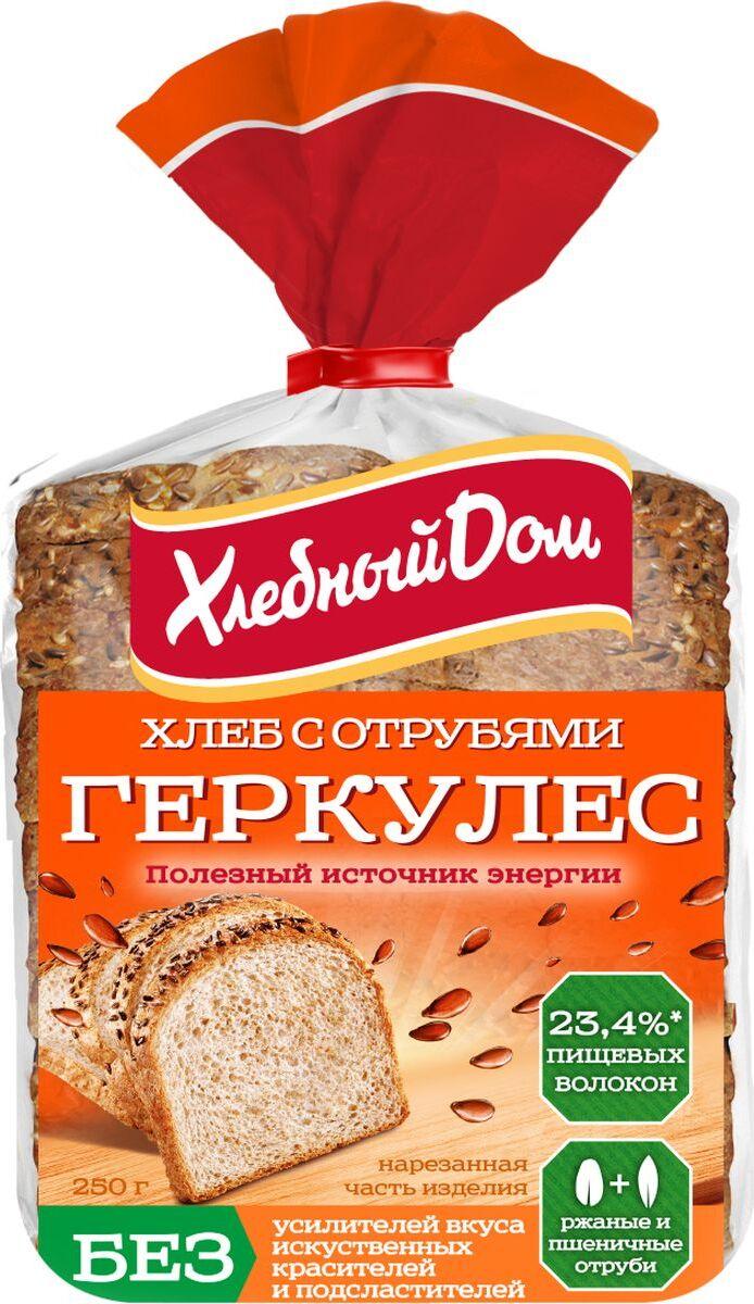 Хлеб Хлебный Дом Геркулес с отрубями, 250 г