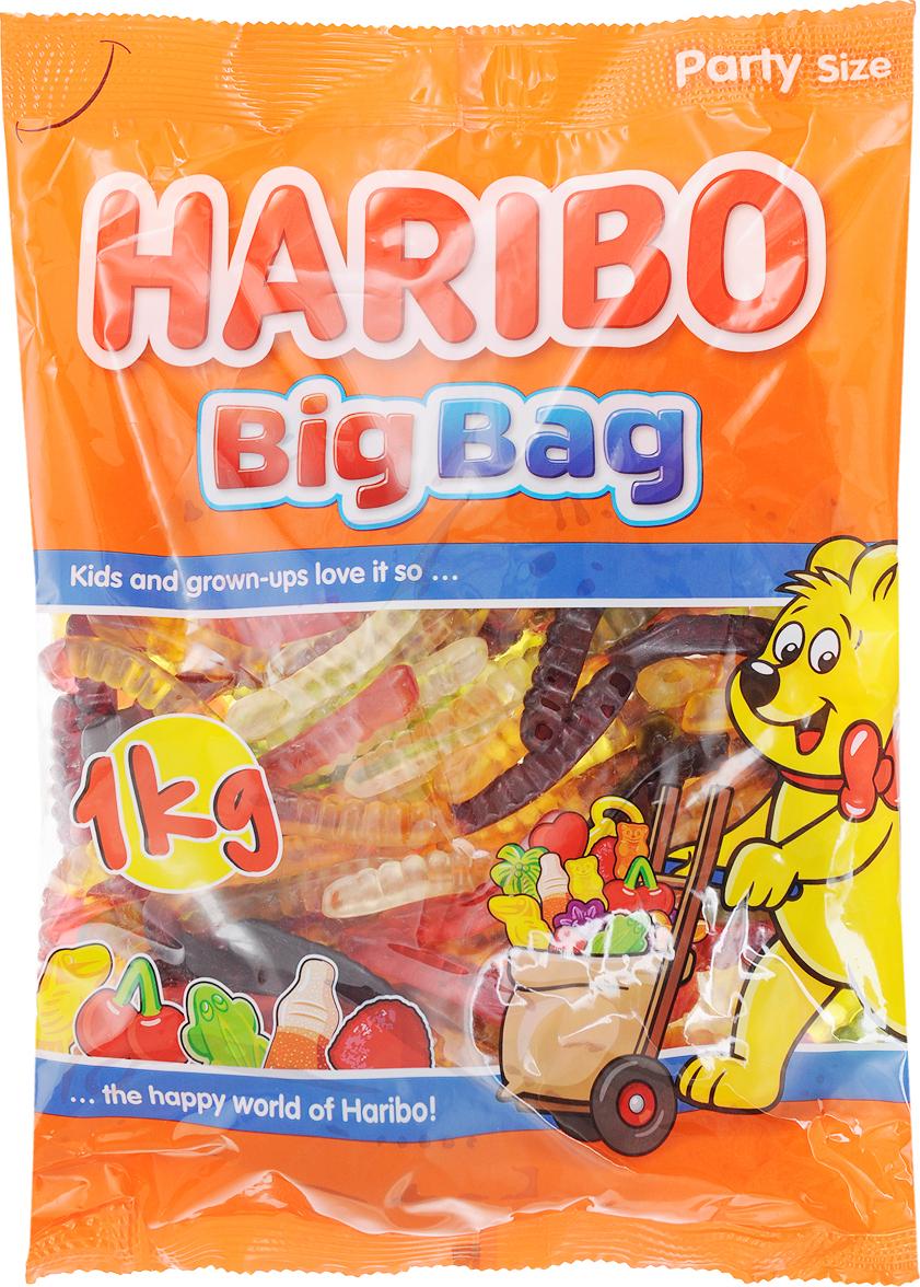 Haribo Червячки Вуммис жевательный мармелад, 1 кг жевательный мармелад haribo червячки 70г