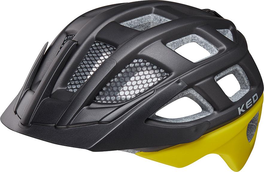 Шлем KED Kailu Black Yellow Matt, размер M KED
