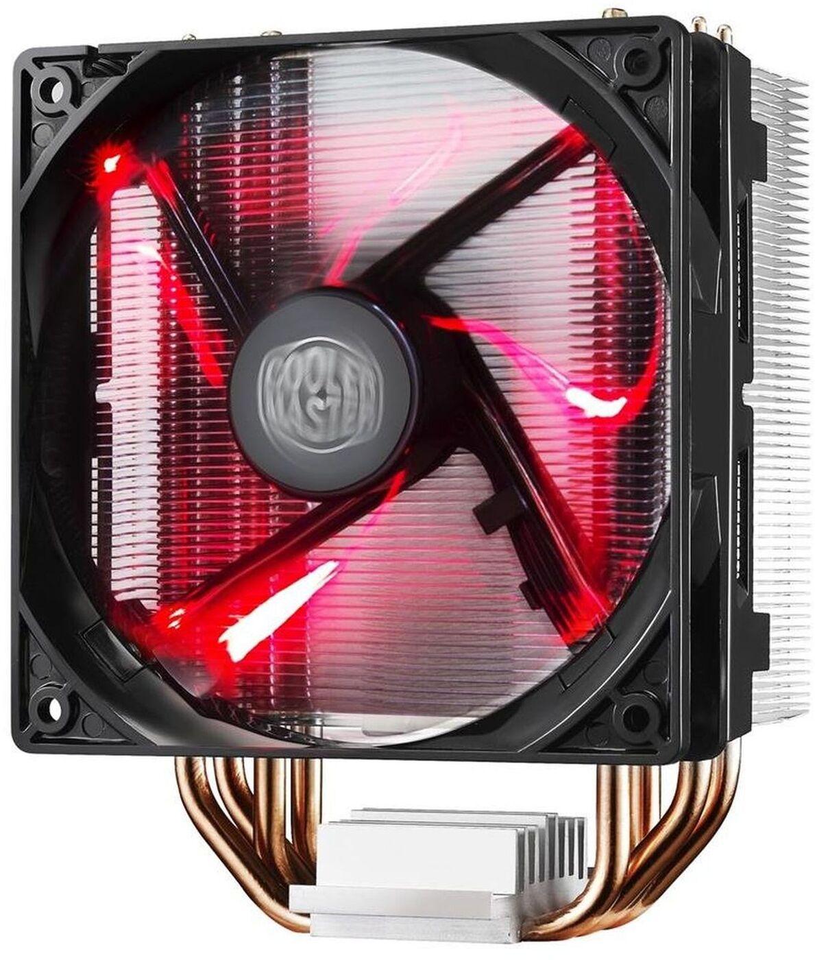 Кулер Hyper 212 LED RR-212L-16PR-R1 AL Fin,4 HP,16025mm Fan,Red LED {10} (379)