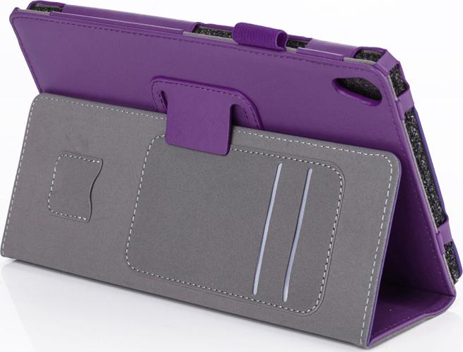 Чехол-обложка MyPads для Asus ZenPad C 7.0 Z170CZ170CGZ170MG из высококачественного материала с визитницей и держателем руки и трансформацией в подставку фиолетовый