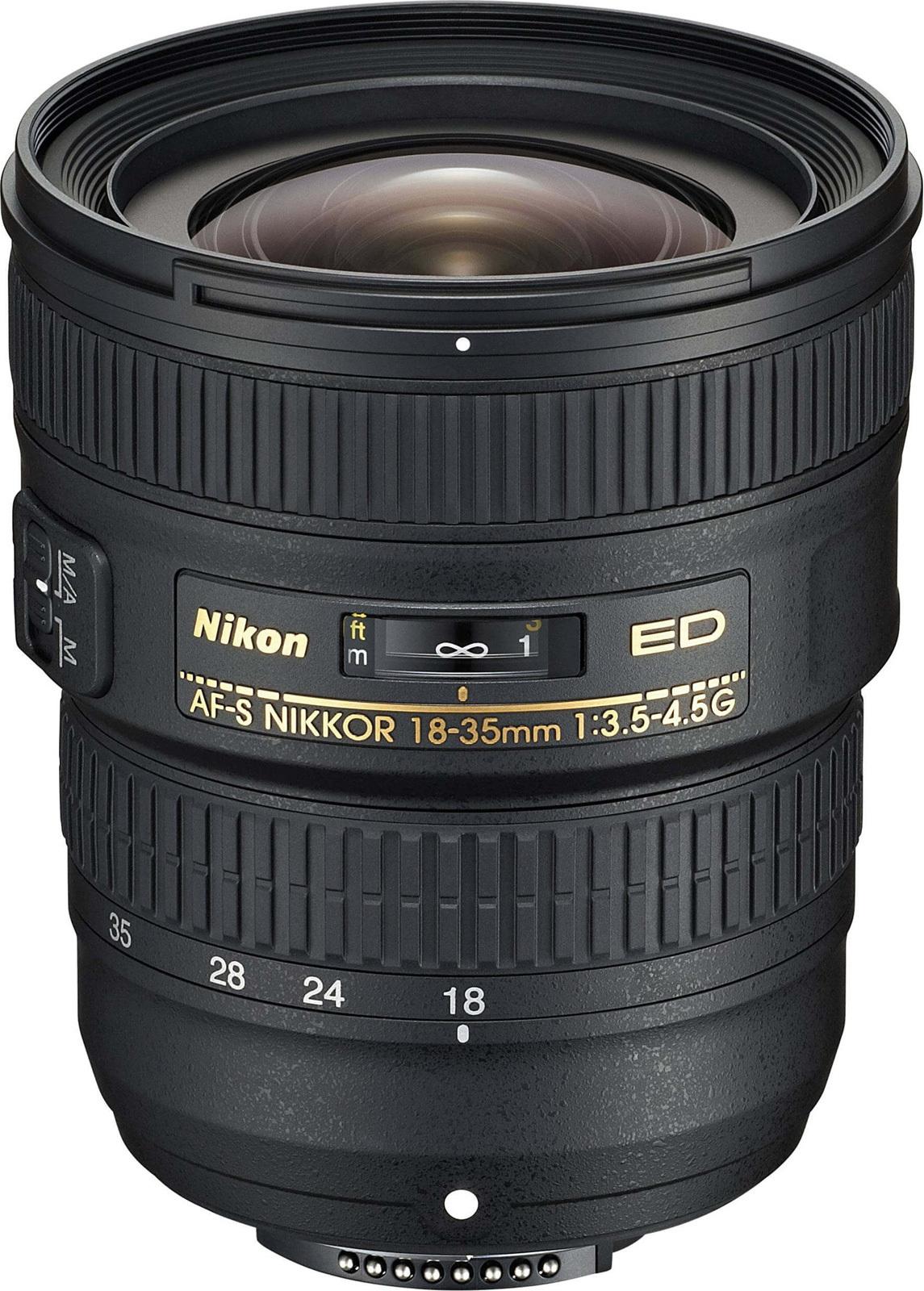 Объектив Nikon ED AF-S Nikkor (JAA818DA) 18-35мм f/3.5-4.5 черный