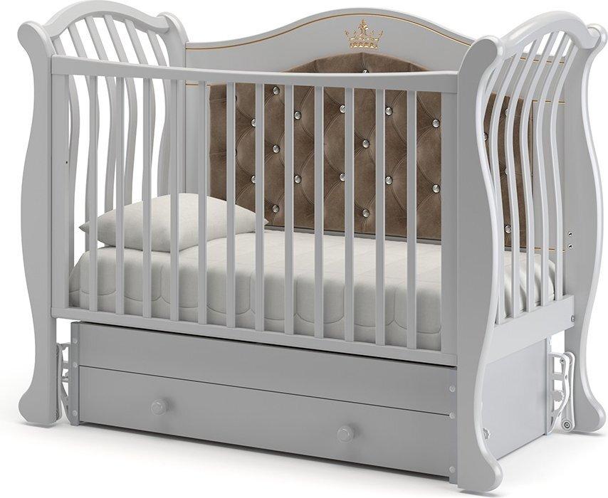 Кровать детская Гандылян Габриэлла Люкс Плюс  маятник универсальный (бел.ночь)