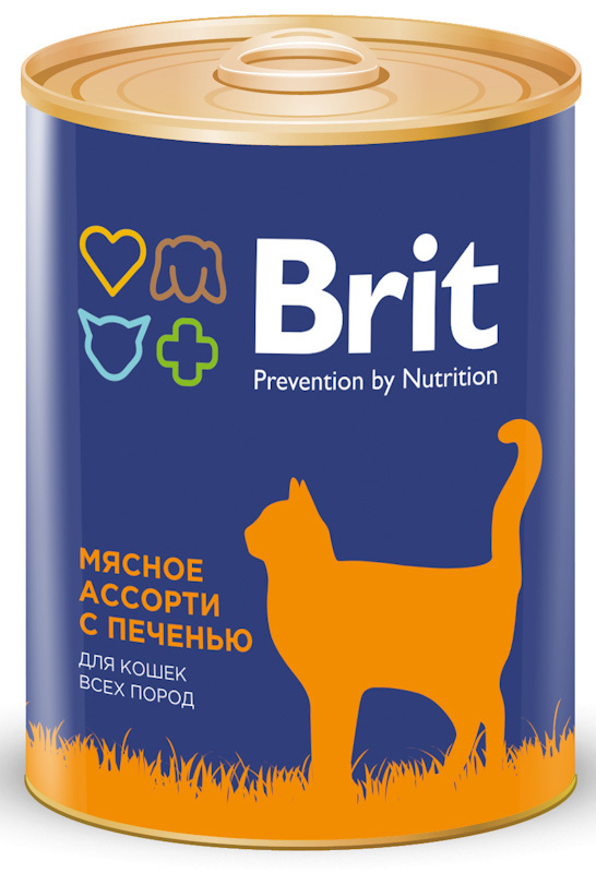 Консервы для кошек Brit Premium BEEF AND LIVER MEDLEY Мясное ассорти с печенью, 340 г