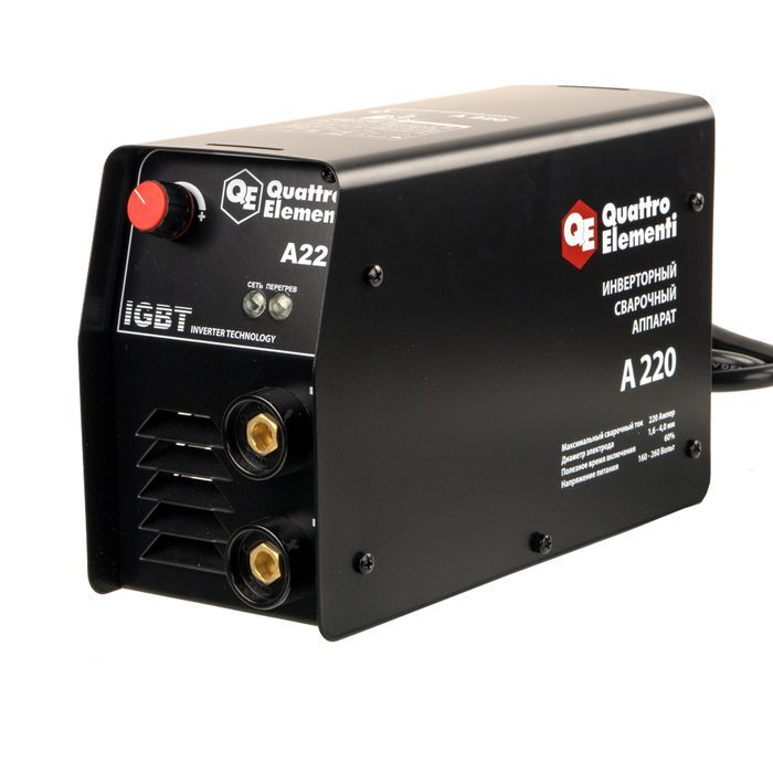 Аппарат электродной сварки, инвертор quattro elementi a 220