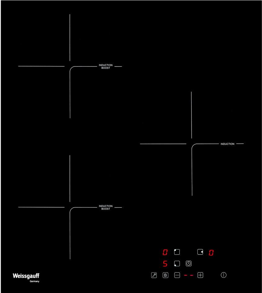 Варочная панель Weissgauff HI 430 B, черный