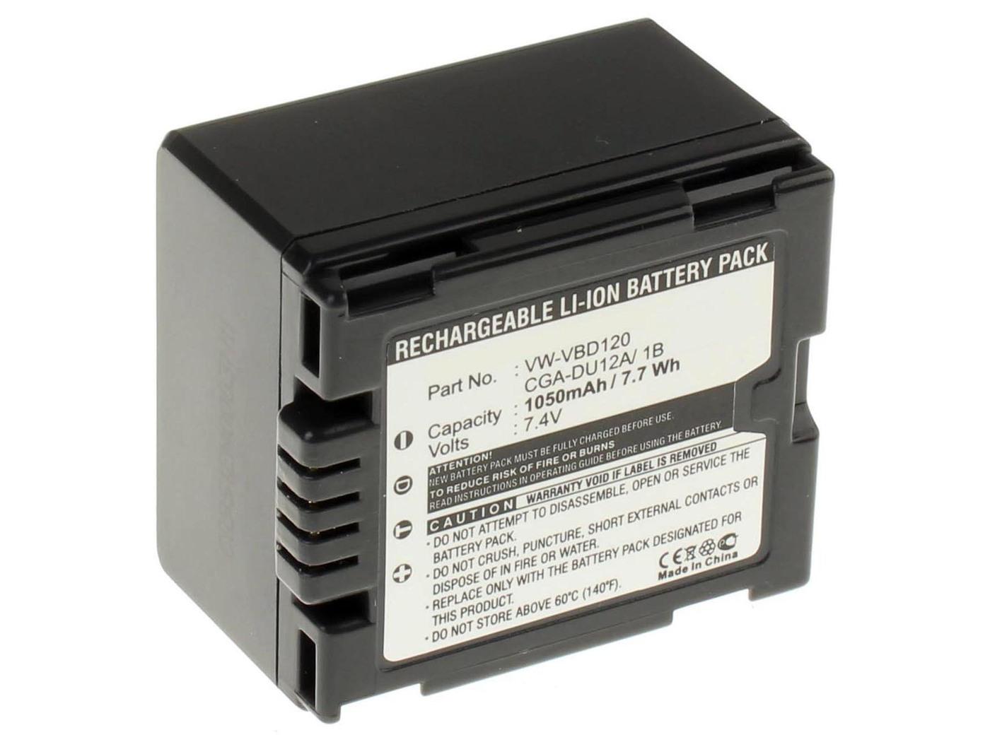 Аккумуляторная батарея iBatt iB-T1-F459 1050mAh для камер Hitachi DZ-MV350E, DZ-MV730E, DZ-BD70, DZ-GX3100E, DZ-MV380, DZ-BD7H, DZ-MV750E,  для Panasonic NV-GS27, NV-GS300, NV-GS400, NV-GS500, NV-GS35, SDR-H280, NV-GS6, SDR-H20, NV-GS230, NV-GS180