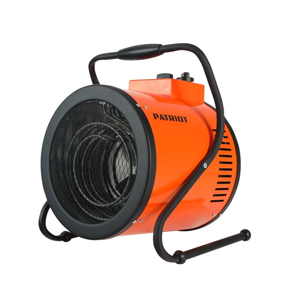 Тепловентилятор электрический PATRIOT PT-R 6, 400В, терморегулятор, нерж.ТЭН, кабель питания  без вилки.