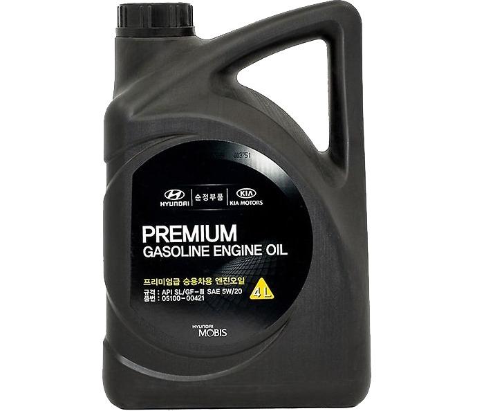 МАСЛО МОТОРНОЕ ПОЛУСИНТЕТИЧЕСКОЕ GASOLINE ENGINE OIL PREMIUM 5W/20, 4L