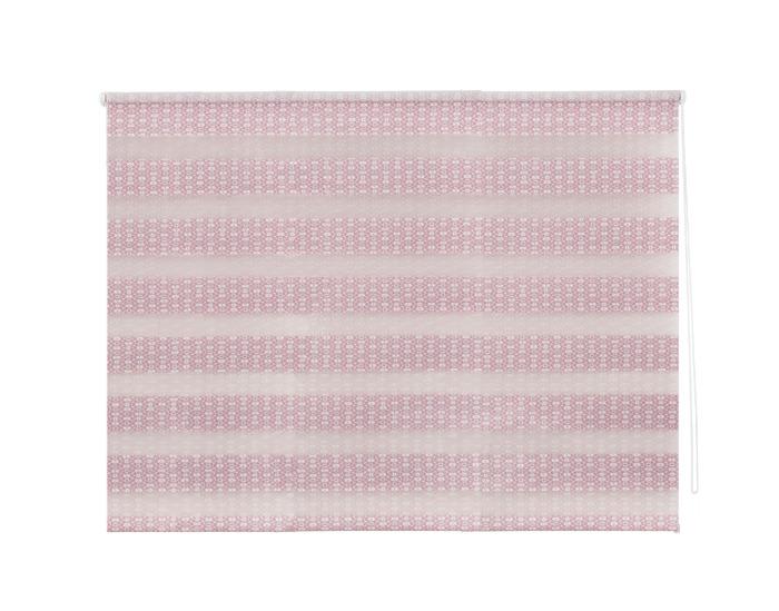Штора рулонная, 100х160 см, цвет розовый-20574