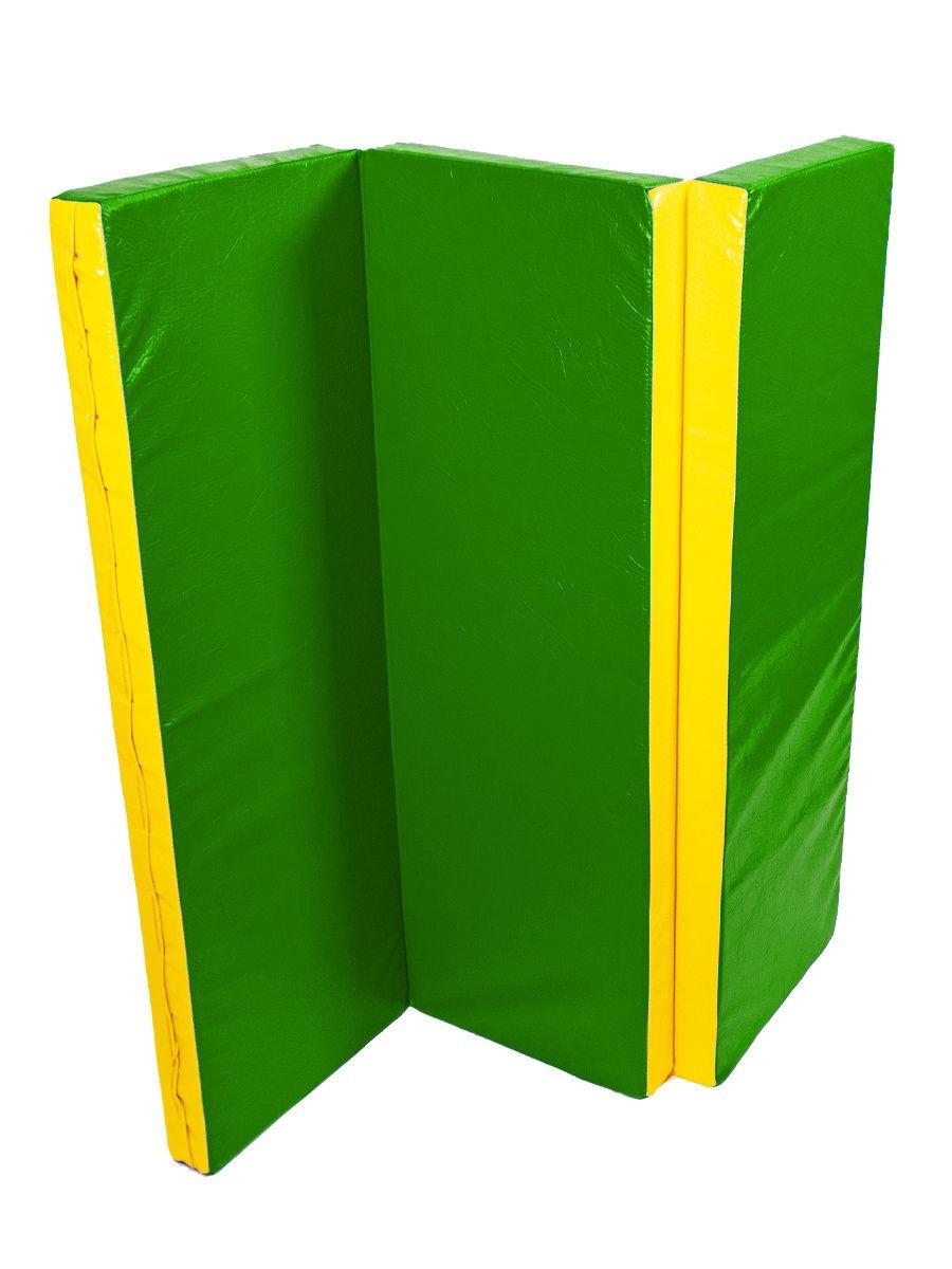 Мат спортивный/гимнастический/для шведской стенки 120х120х7 см зеленый