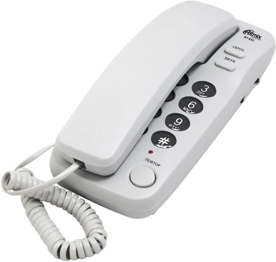 телефон проводной ritmix rt-100 black