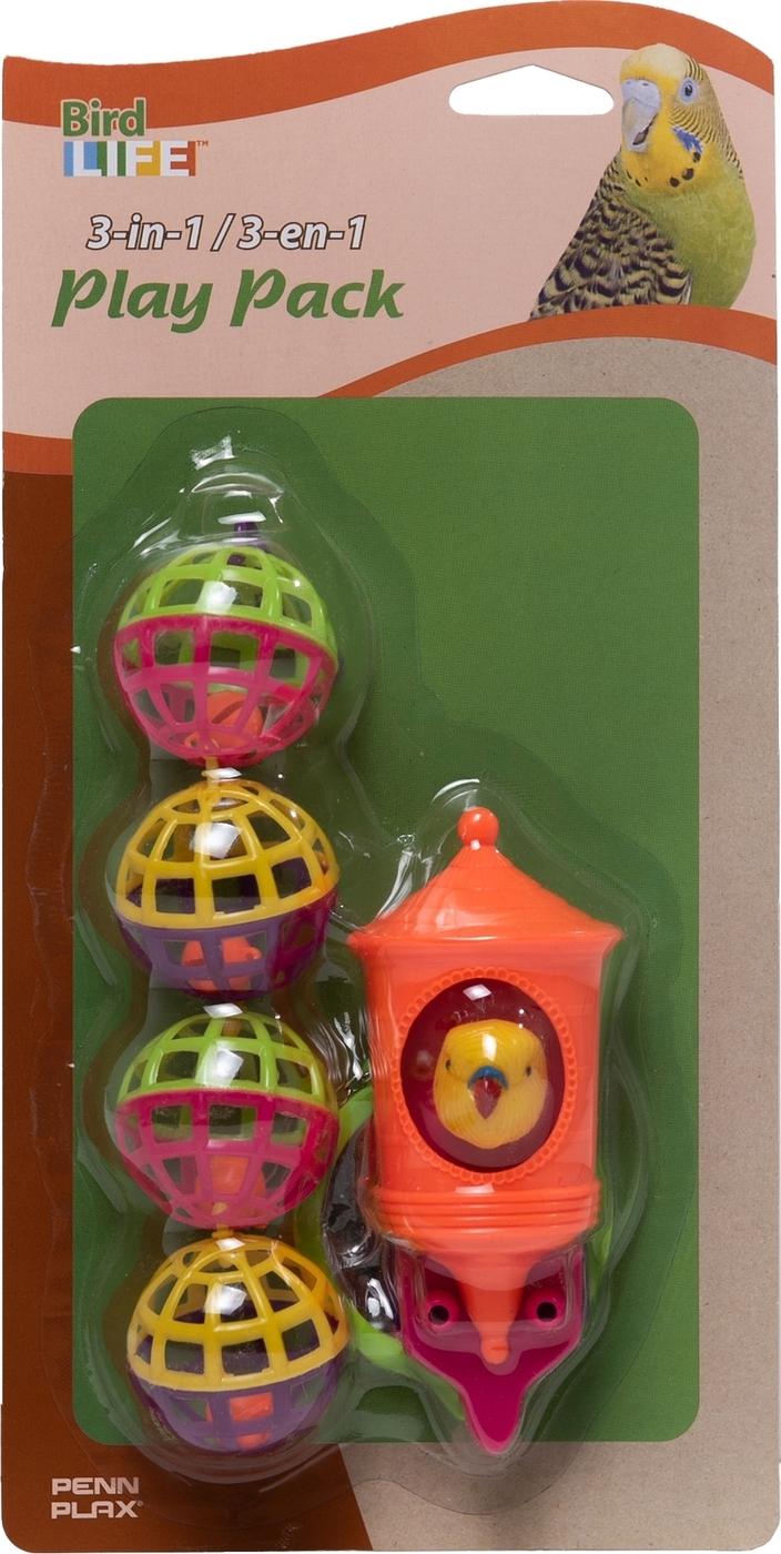 набор игрушек для птиц penn-plax: зеркало, птичка, шары