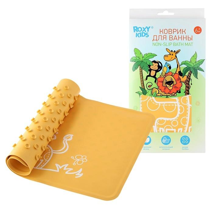 Коврик резиновый антискользящий для ванны ROXY-KIDS, цвет жёлтый  #1