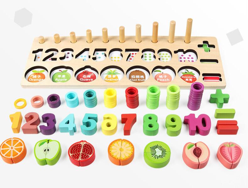 """Деревянный набор """"Учимся считать"""" метод Монтессори #1"""