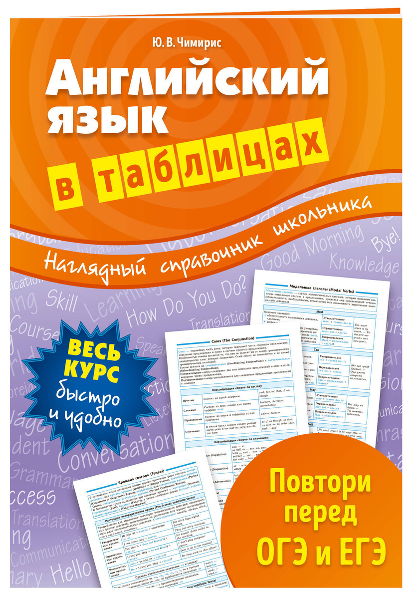 Английский язык в таблицах | Чимирис Юлия Вячеславовна #1