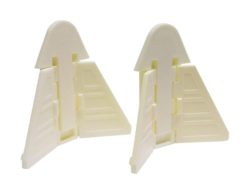 Набор 2шт: Блокиратор шкафа купе и раздвижных окон треугольный белый  #1