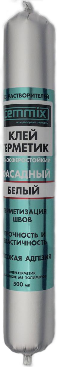 Клей-герметик Cemmix Фасадный универсальный Гибридный 500 мл белый  #1