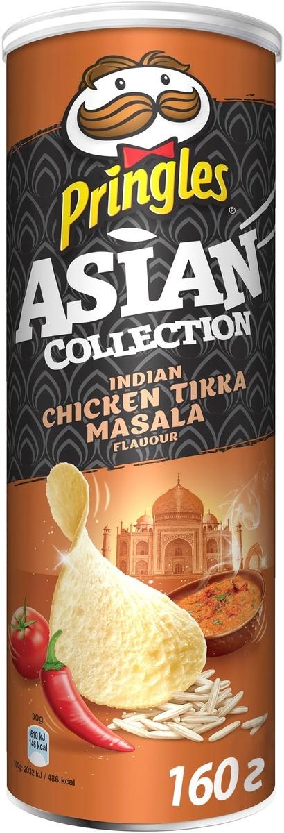 Чипсы Pringles Asian Collection, рисовые, со вкусом курицы с индийскими специями Тикка масала, 160 г #1