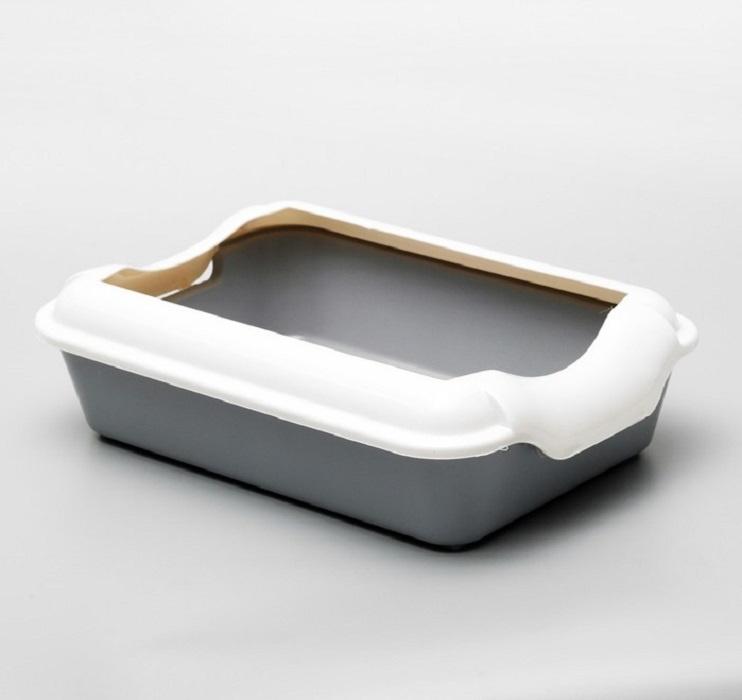 Туалет ( лоток ) с бортом , 40*27*11 см, серый #1