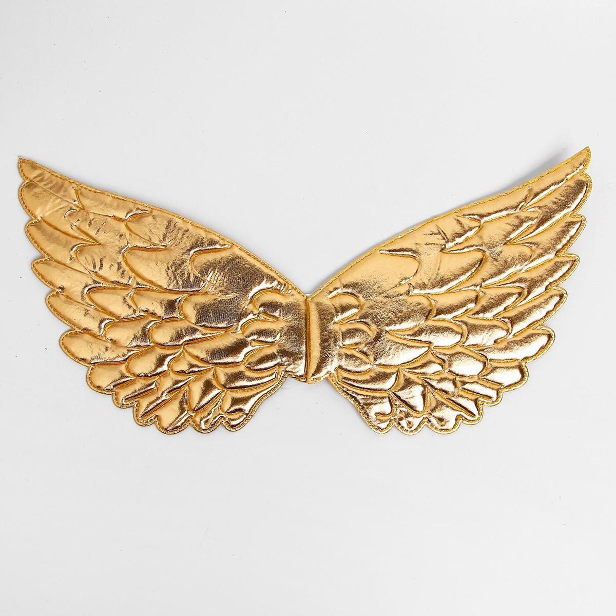 """Карнавальные крылья """"Ангелочек"""", для детей, цвет золотой  #1"""